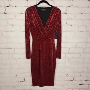 RACHEL Rachel Roy Fitted Leopard Print Dress S